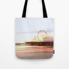 Santa Monica Pier Sunrise Tote Bag