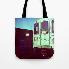 Subway A train in Queens - NYC Tote Bag