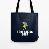 baking Tote Bags featuring Baking Soda by Λdd1x7