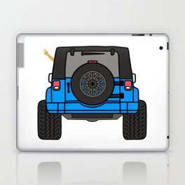 Jeep Wave Back View - Blue Jeep Laptop & iPad Skin