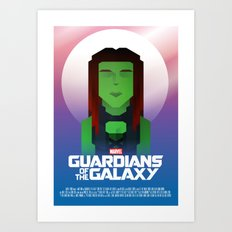 Guardians of the Galaxy - Gamora Art Print