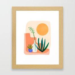 Santa Fe Summer / Abstract Landscape Framed Art Print