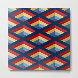 SQUARE HOLES / midnight blue / ketchup red / putty yellow / phthalo blue / violet Metal Print