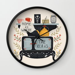 Home Is Where the Tea Is Wall Clock