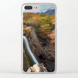 Tower Wood Waterfall, Killarney Clear iPhone Case
