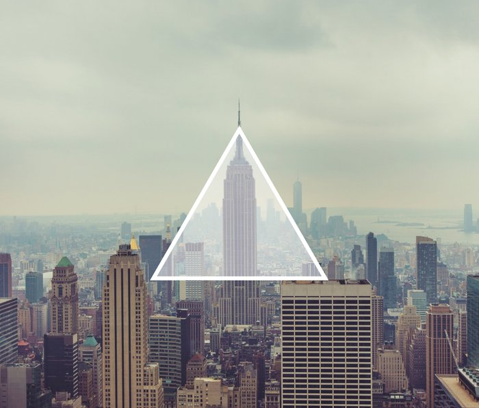 New York Triangle Metal Travel Mug