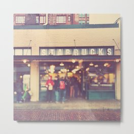 Seattle Starbucks photograph. A Star is Born Metal Print