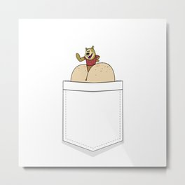 Hamster in Butt Pocket Metal Print