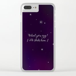 What, you egg? Clear iPhone Case