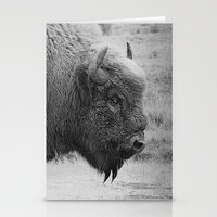 bison Stationery Cards featuring  Bison by Peaky40