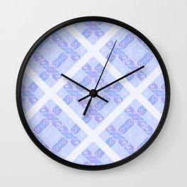 Winter Diamond Lattice Wall Clock