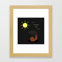 Not a Summer Sun Person Framed Art Print