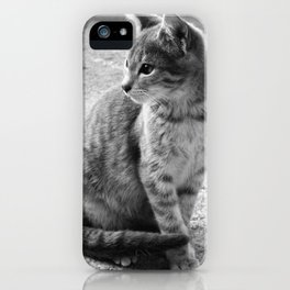 Lloyd- Black and White Cat Photography iPhone Case