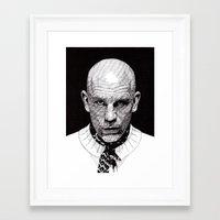 john mayer Framed Art Prints featuring John by Rik Reimert