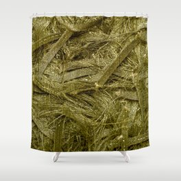 Golden fibers Shower Curtain