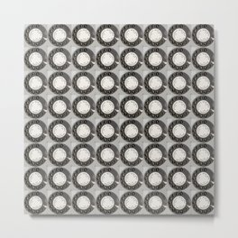 Die DDR Telefon Collage Metal Print