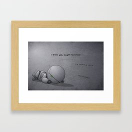 Android Down Framed Art Print