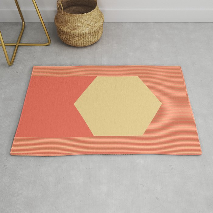 Cream Hex Rug By Lorcy Society6