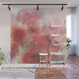Watercolor Ranunculus Wall Mural