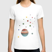planets T-shirts featuring Planets by Ellen Beall Dubreuil