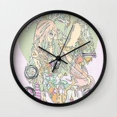 mountbatten pink & bones Wall Clock