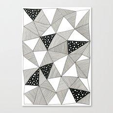 Pattern Triangles Canvas Print