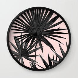 Fan Palm Leaves Jungle #2 #tropical #decor #art #society6 Wall Clock