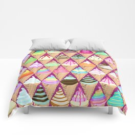 Colourful Ice Creams Diamond Pattern Comforters