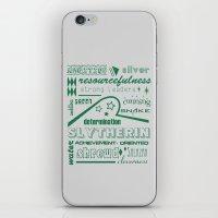 slytherin iPhone & iPod Skins featuring Slytherin by husavendaczek