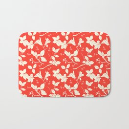 Drawings from Stonecrop Garden, Pattern in Red Bath Mat