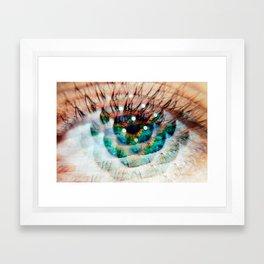 Green Eyes Hypnotize Framed Art Print