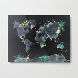world map 126 #worldmap #map Metal Print