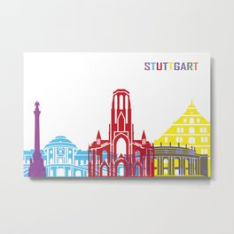 Stuttgart skyline pop Metal Print
