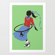 Poodle Skirts, Bobby Socks and Hoola Hoops Art Print