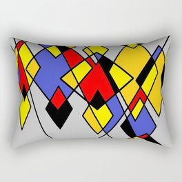 Grey multicolor Rectangular Pillow