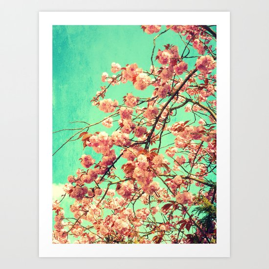 vintage Cherry blossoms  Art Print
