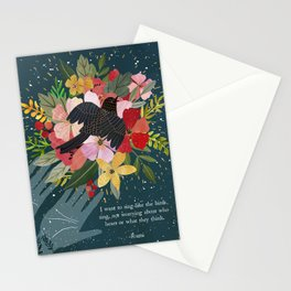 I want to sing, Rumi Quote, Poem Stationery Cards