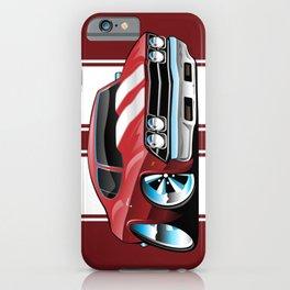 Sixties American Classic Muscle Car Cartoon iPhone Case