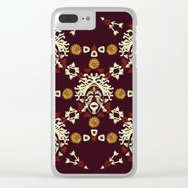 African Tribal mask ethnic. Clear iPhone Case