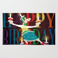 Happy Birthday Candles Rug