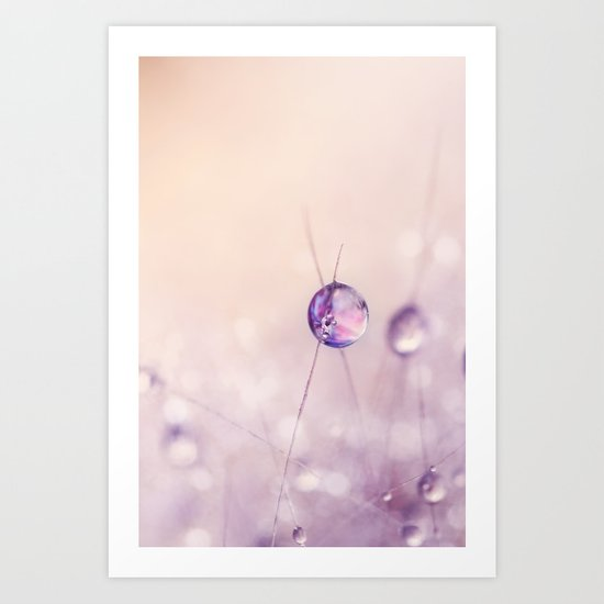 Cactus Drop in Soft Pink Art Print