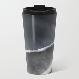 Snow Blowing Off A Mountain Travel Mug