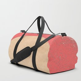 Imperial Coral - Moon Minimalism Duffle Bag