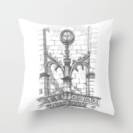 flying buttress Throw Pillow