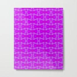 Purpel fractal Metal Print