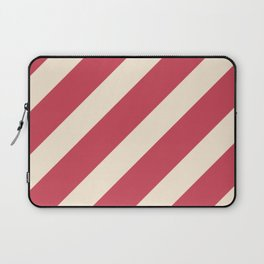 Antique White and Brick Red Stripes Laptop Sleeve