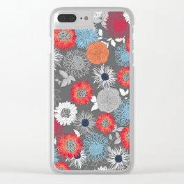 Garden Bloom Clear iPhone Case