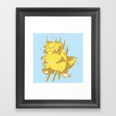Sandshrew Splat Framed Art Print