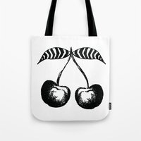 cherry Tote Bags featuring Cherry by kartalpaf