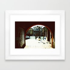 Venice - Archway onto the Grand Canal Framed Art Print